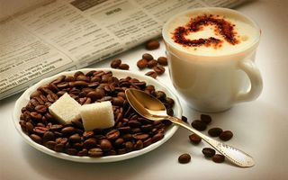 Фото бесплатно сердце, ложка, кофе