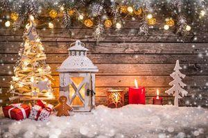 Фото бесплатно новый год, новогодний фон, новогодние обои