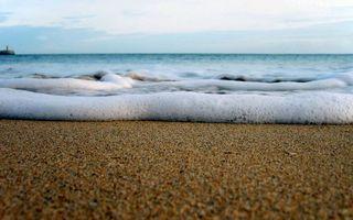 Бесплатные фото берег,песок,море,волна,пена,горизонт,небо