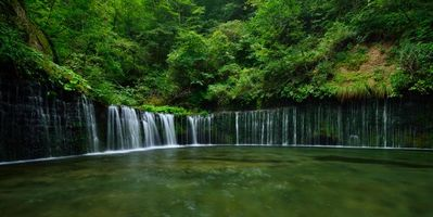 Photo free waterfall, pond, forest