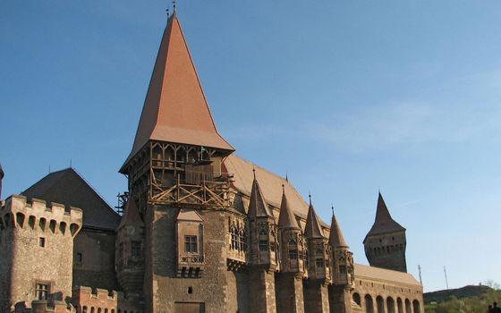 Фото бесплатно замок, крыши, башни