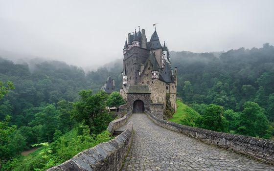 Фото бесплатно пейзаж, Германия, замок Эльц