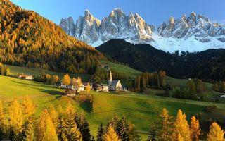 Бесплатные фото горы,скалы,снег,деревья,трава,дома,здания