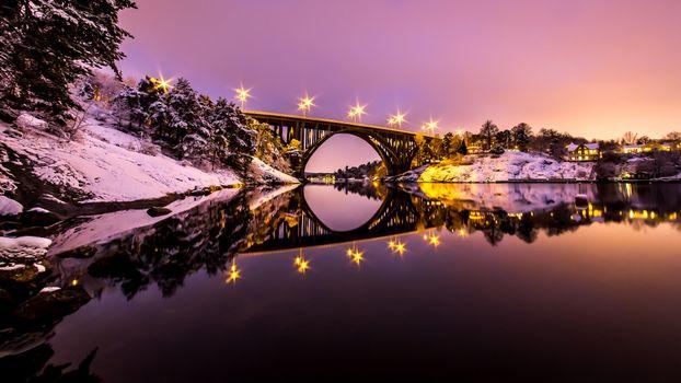 Фото бесплатно Швеция, пейзаж, мост