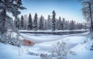 Бесплатные фото Finland,river Kiiminkijoki,зима,река,лес,деревья,пейзаж