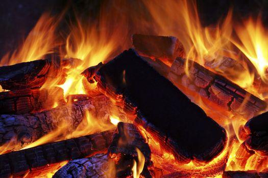Заставки огонь, костёр, угли