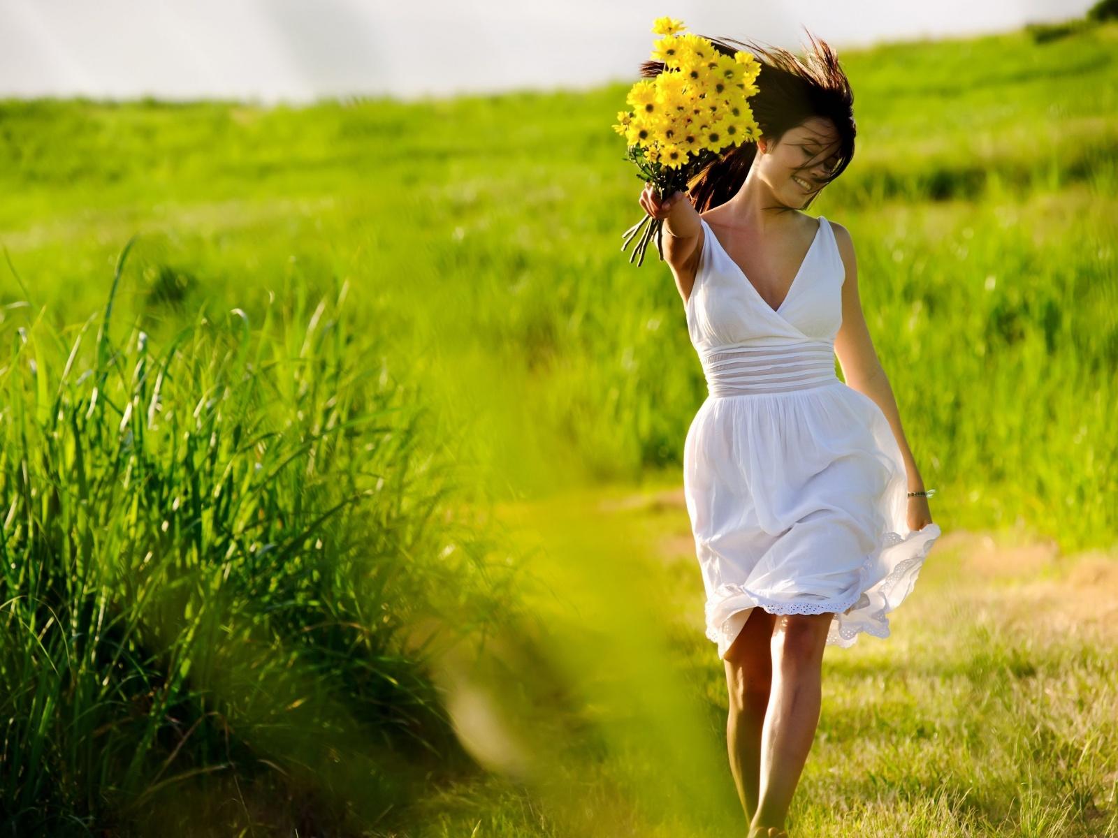 лето, поле, венок
