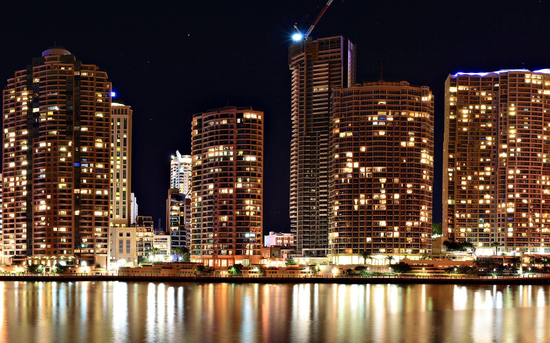 небоскребы ночь город  № 3358964  скачать