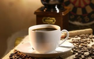 Бесплатные фото блюдце,чашка,ложечка,кофе,зерна,кофемолка