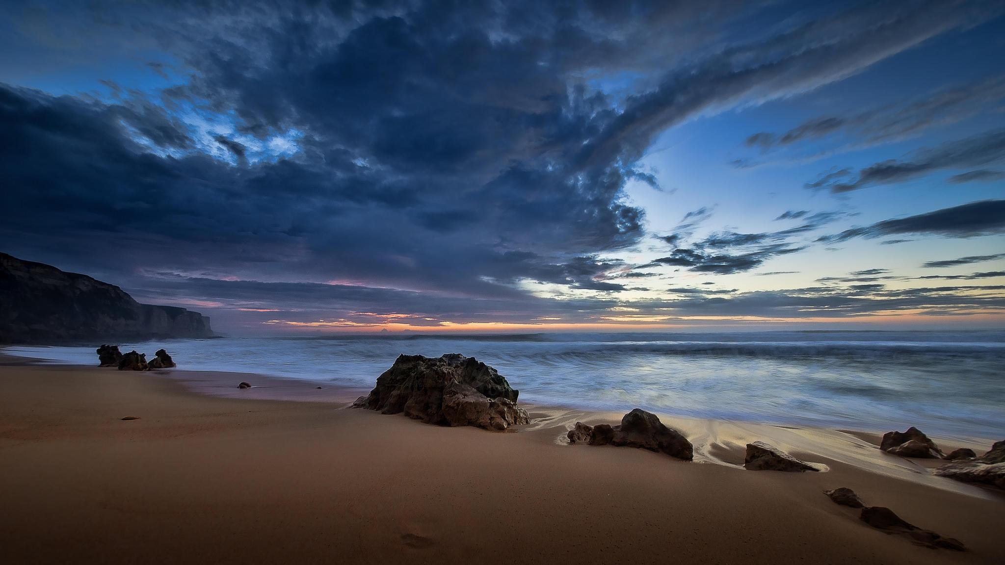 Обои пляж, Bicas, Португалия, море