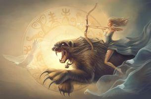 Бесплатные фото гороскоп, стрелец, девушка, монстр, фантастика
