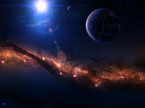 Фото бесплатно звезды, планеты, космос