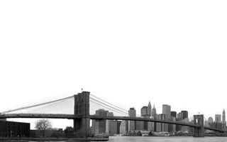 Бесплатные фото река,мост,берег,дома,небоскребы,чорно-белое
