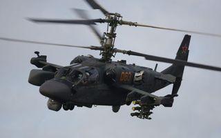 Бесплатные фото вертолет,ка-52 аллигатор,винты,лопасти,кабина,вооружение,полет