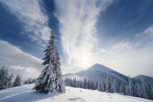 Фото бесплатно снег, пейзаж, горы