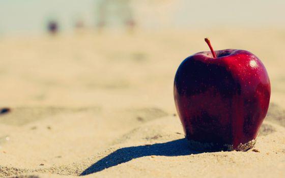 Заставки фрукт, яблоко, красное