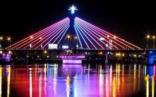 Заставки Китай, лазерное шоу, река, ночь