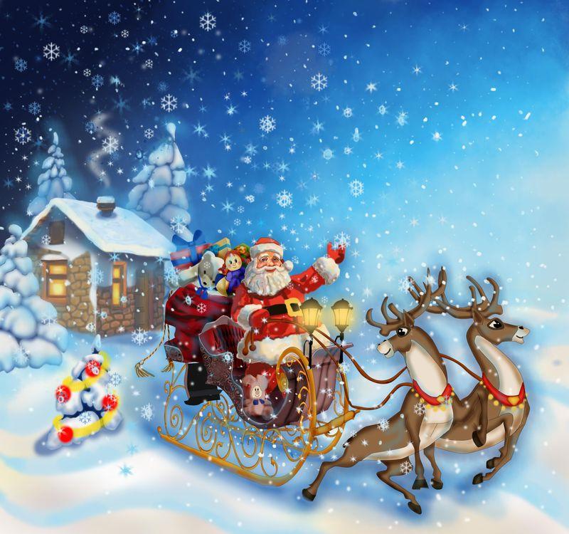 Free photo new year, christmas background, christmas wallpaper, happy new year, christmas clipart, christmas mood, Santa Claus - to desktop