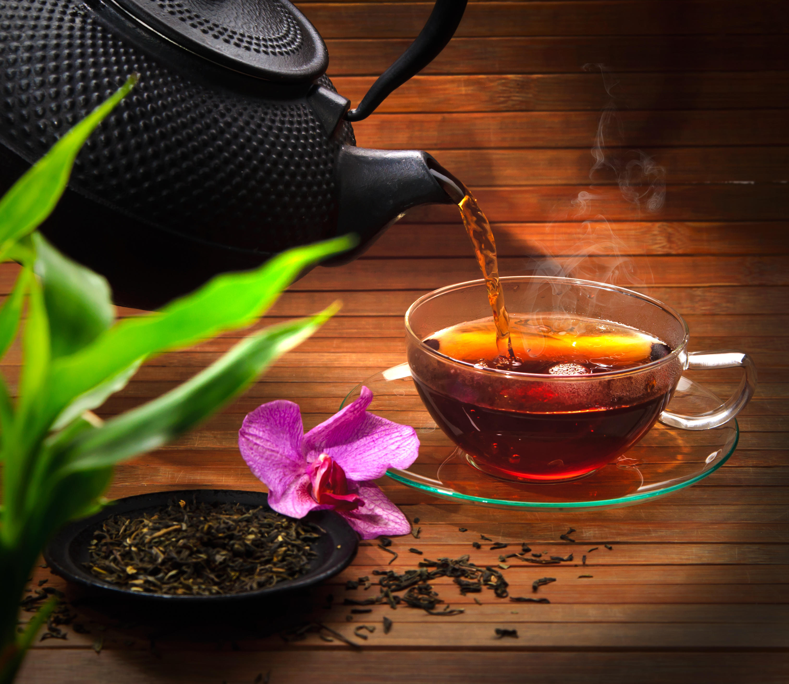 Обои чай, кружка, чайник