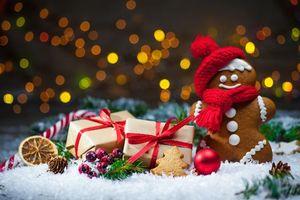 Рождество, фон, дизайн, элементы, новогодний стол
