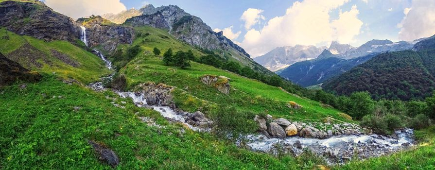 Photo free the Alps, Savoy hill cascade outdoor, landscape