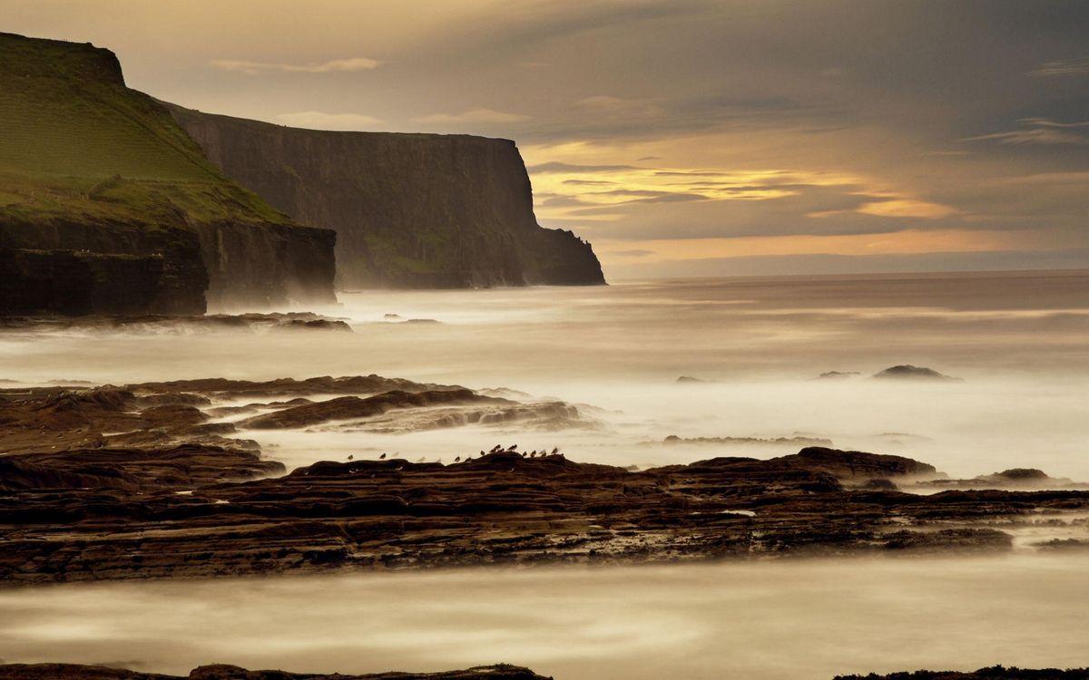 Фото бесплатно побережье, море, дымка - на рабочий стол