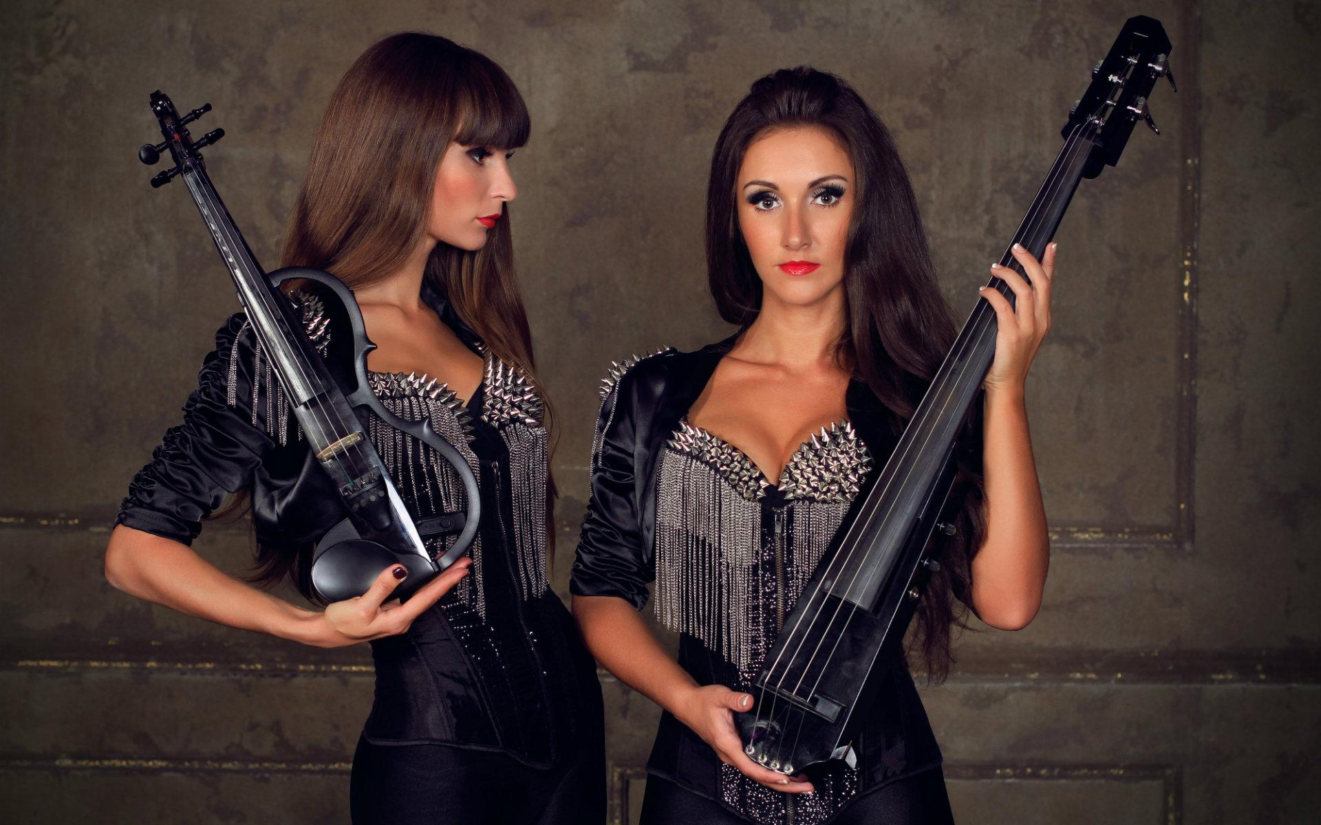 музыканты, дуэт, скрипачка