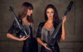 Заставки музыканты, дуэт, скрипачка