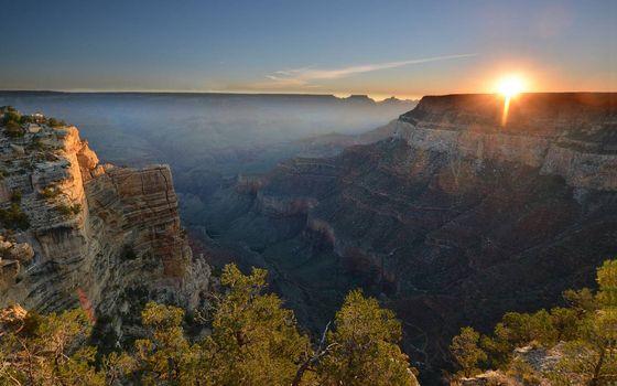 Фото бесплатно каньон, ущелье, закат