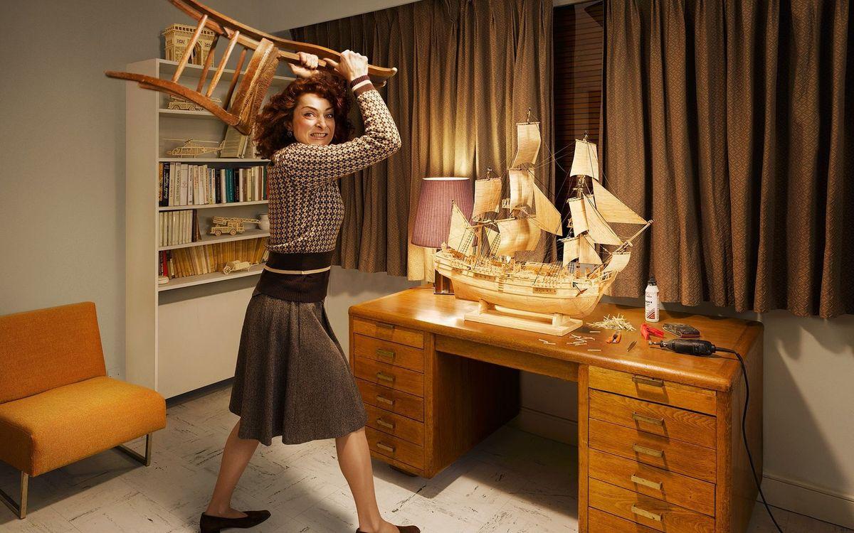 Фото бесплатно комната, стол, макет корабля - на рабочий стол