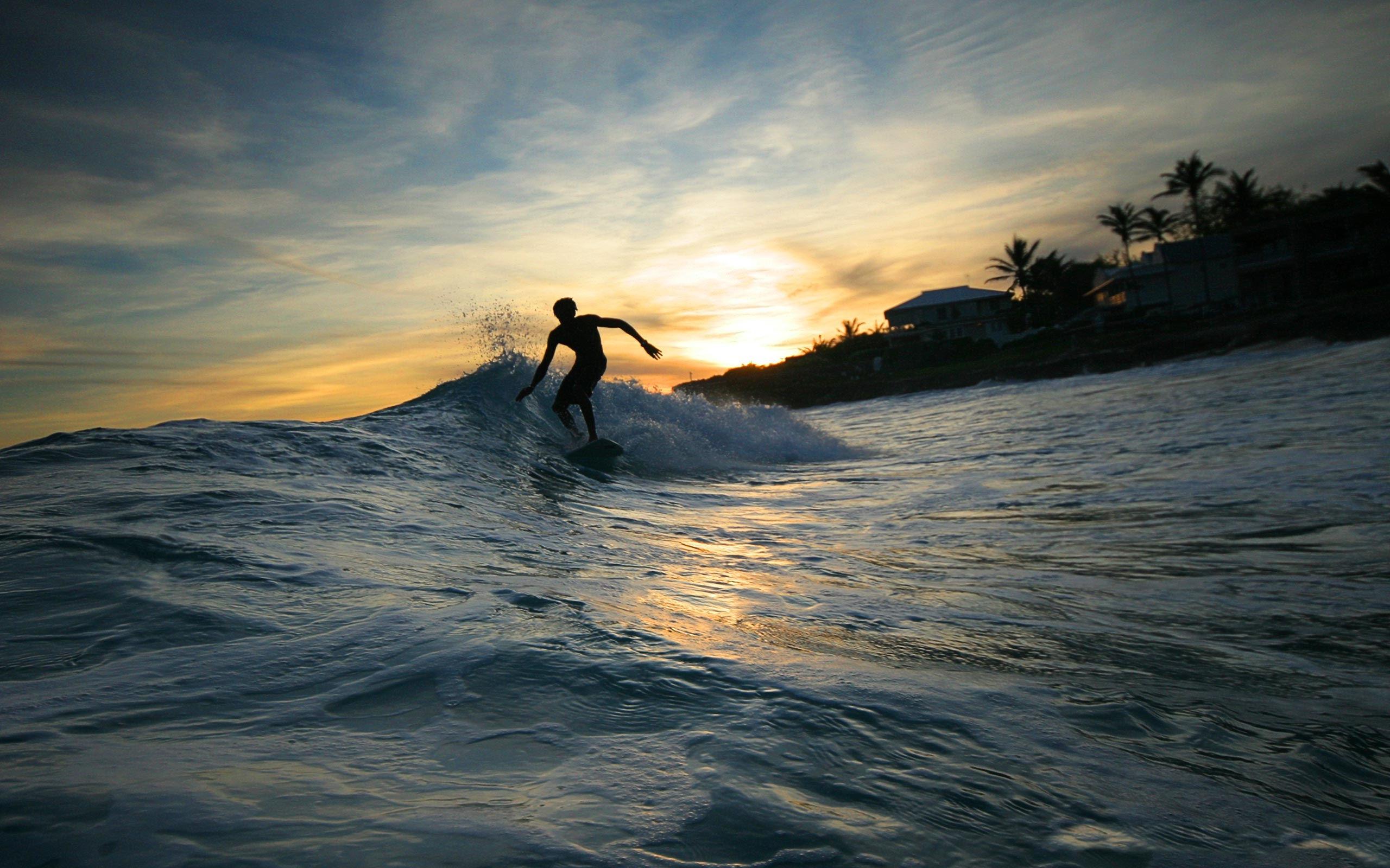 море, волна, серфер