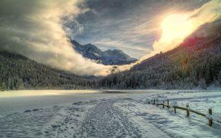 Фото бесплатно ограждение, зима, снег