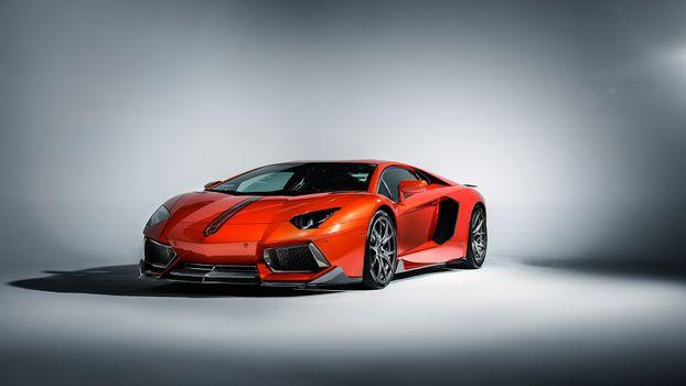 Photo free lamborghini, orange, sports car