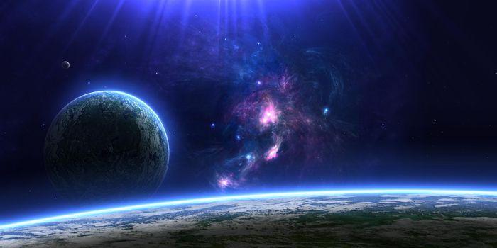 Фото бесплатно космос, вселенная, планеты, звёзды, созвездия, свечение, невесомость, вакуум, галактика, art