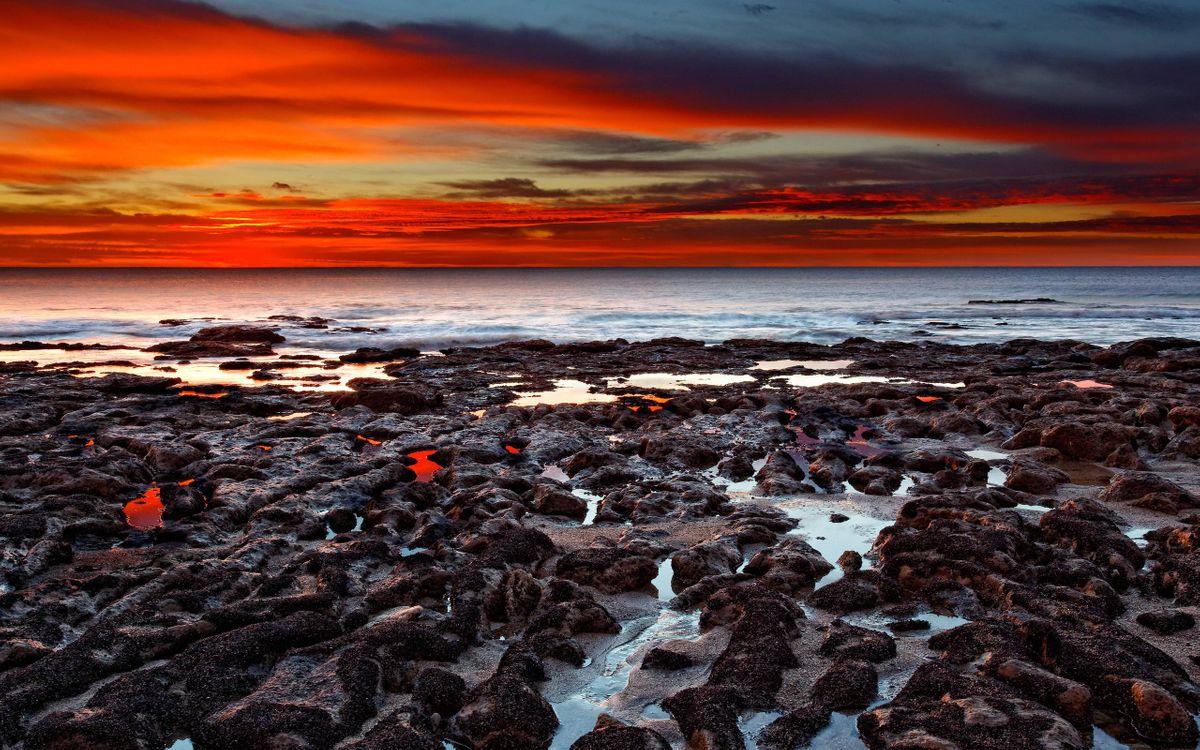 Фото бесплатно берег, лава, извержение вулкана - на рабочий стол