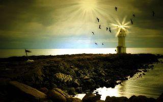 Фото бесплатно камни, насыпь, маяк