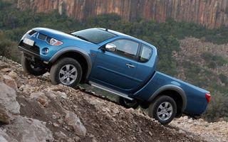 Фото бесплатно Mitsubishi, пикап, синий, тест-драйв