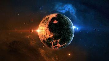 Фото бесплатно планета, звезды, галактика