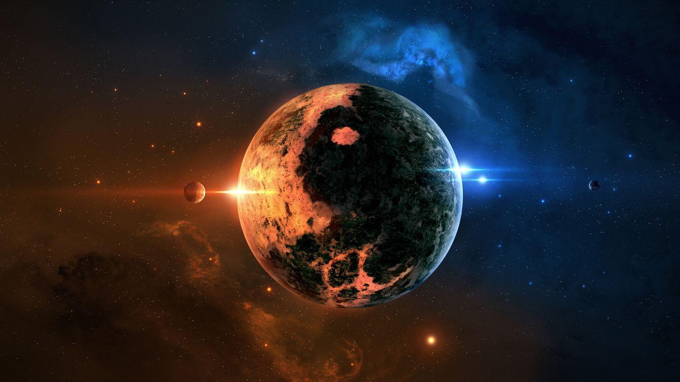 Фото бесплатно планета, звезды, галактика, космос - скачать на рабочий стол
