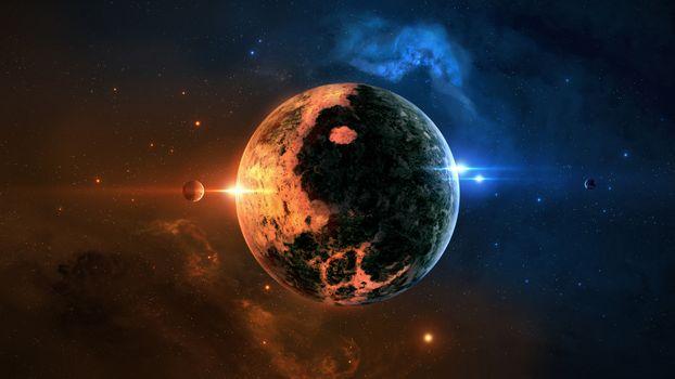 Бесплатные фото планета,звезды,галактика