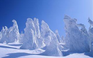 Бесплатные фото зима, горы, снег, деревья, сугробы, статуи
