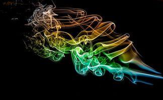 Фото с цветным дымом