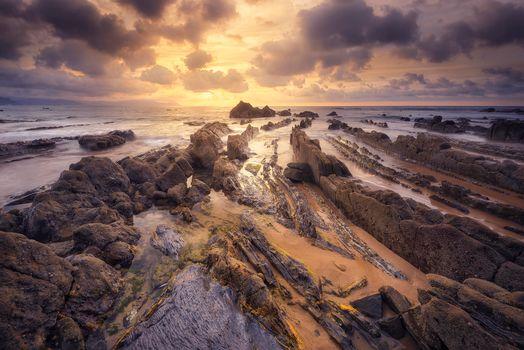 Photo free Barrika, Basque Country, rocks