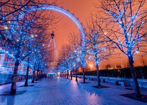 Заставки Лондон, колесо обозрения, Англия