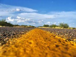 Фото бесплатно Буш, дорожная разметка, дорога
