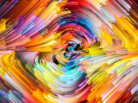 Разноцветный водоворот красками
