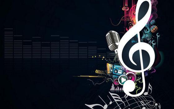 Фото бесплатно рисунок, скрипичный ключ, ноты