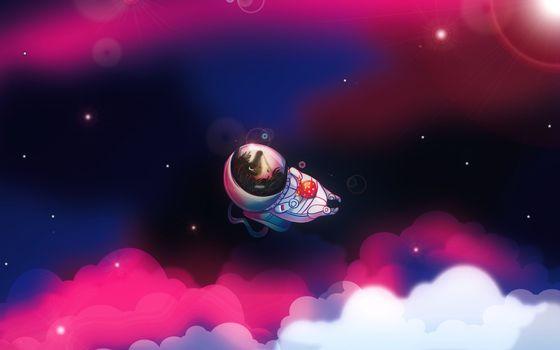 Фото бесплатно ежик, космонавт, скафандр