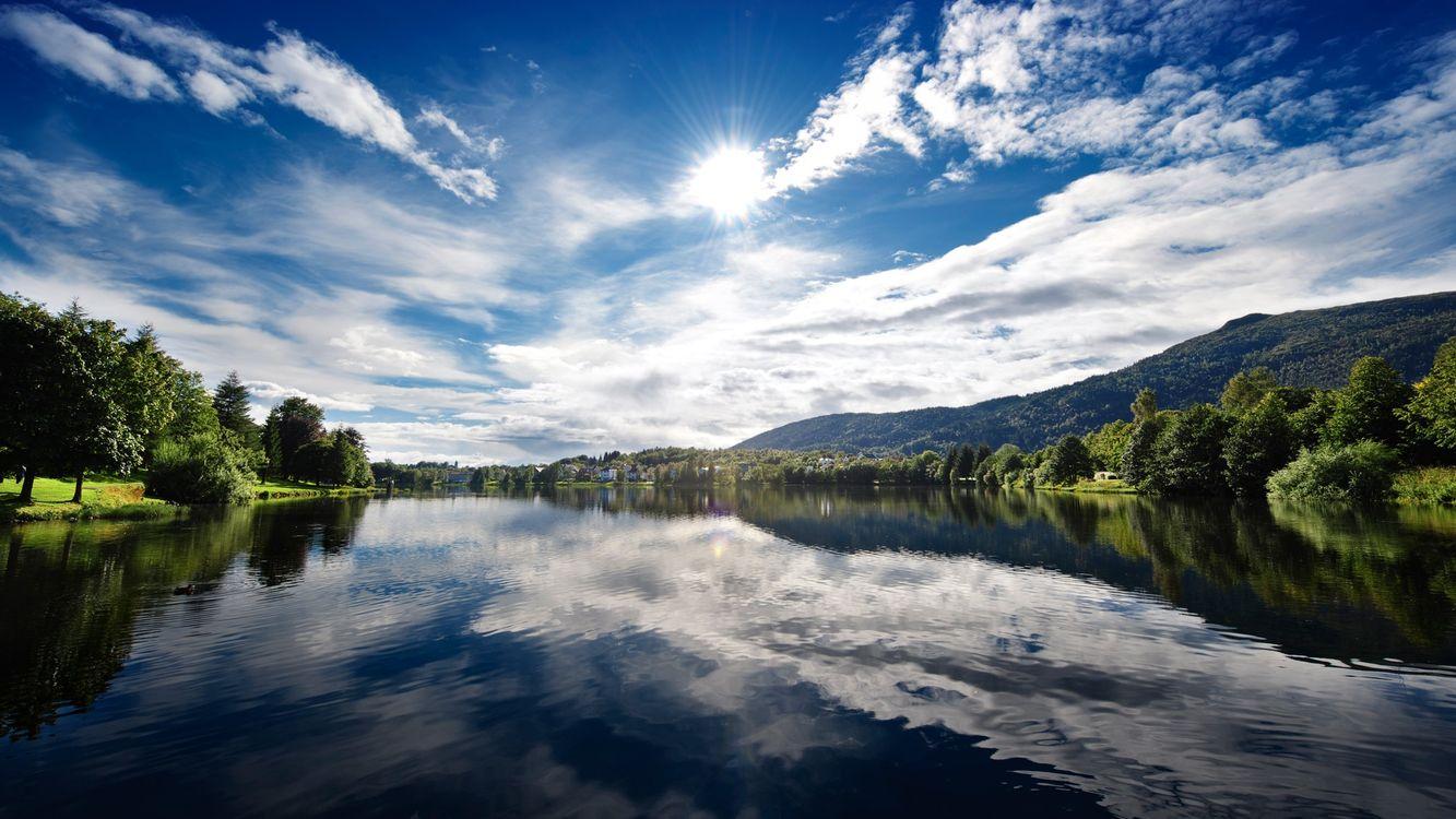 Фото бесплатно река, отражение, берега - на рабочий стол