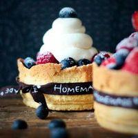 Бесплатные фото кексы,выпечка,ягоды,черника,малина,крем